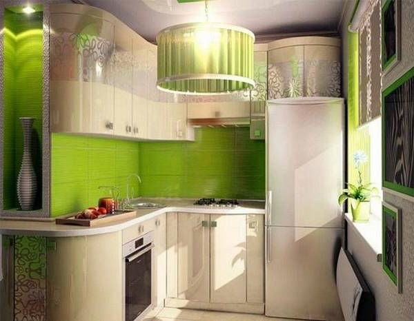 The Design Of The Corner Small Kitchen, In Addition To The Work Area,  Involves The Arrangement And Places For Eating. A Large Dining Table Here,  Of Course, ...