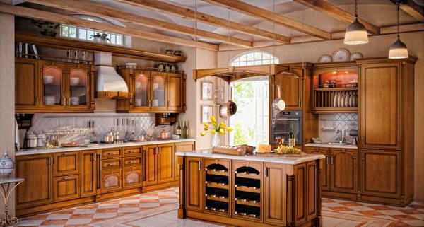 Kitchens From Solid Wood On 58 Photos Varieties And Rules