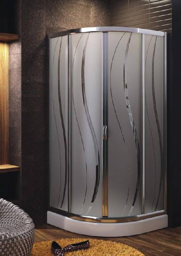 Sliding glass shower doors: 35 photos in the bathroom ...