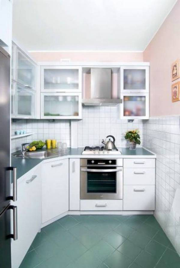 Color Palette In The Kitchen Design Of A Small Square