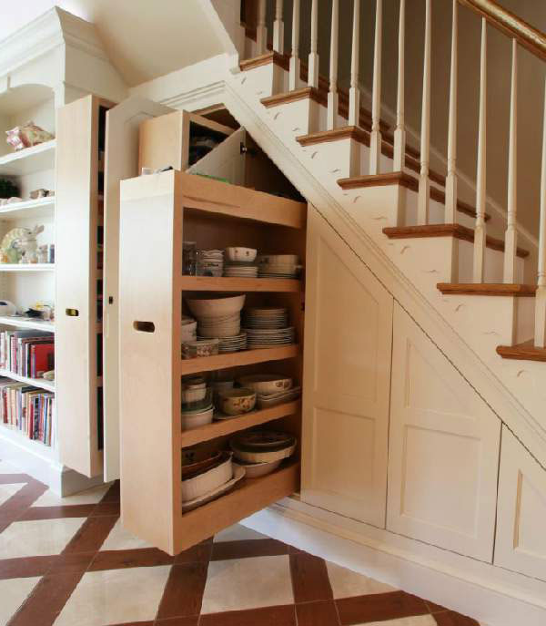 Cabinet Under The Stairs In A Private House Stylish And