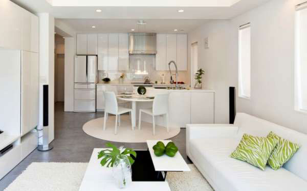 Kitchen Living Room Design With Zoning: The Most Popular Options